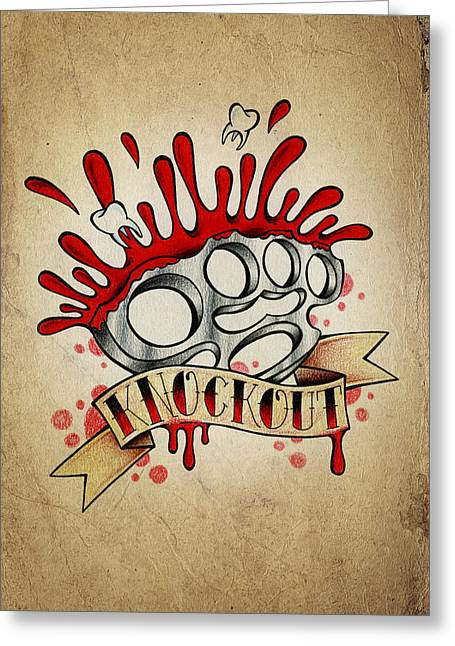 Knockout Greeting Cards - Knockout Greeting Card by Samuel Whitton