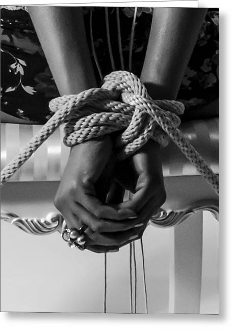 Straps Greeting Cards - Knot A Hope in Sight Greeting Card by Frank Villasana