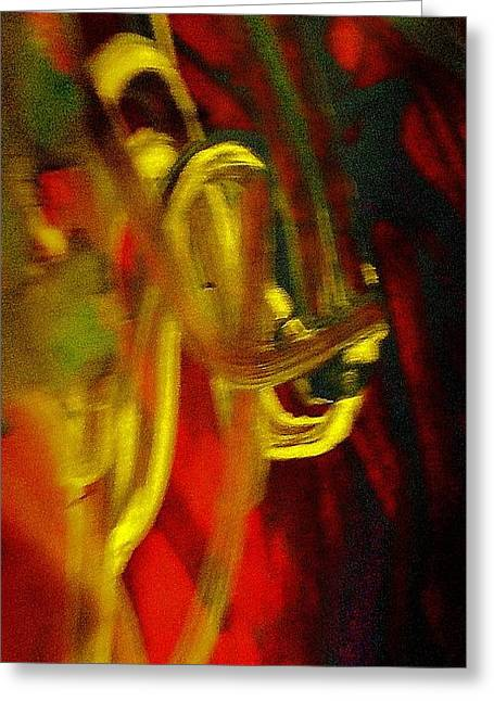 Psychiatry Paintings Greeting Cards - Knotted Silence Greeting Card by Paula Andrea Pyle