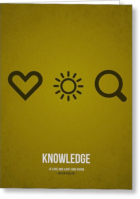 College Drawings Greeting Cards - Knowledge Greeting Card by Aged Pixel