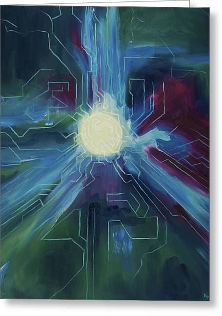 Technical Paintings Greeting Cards - Knowledge Greeting Card by Dylan Wheeler