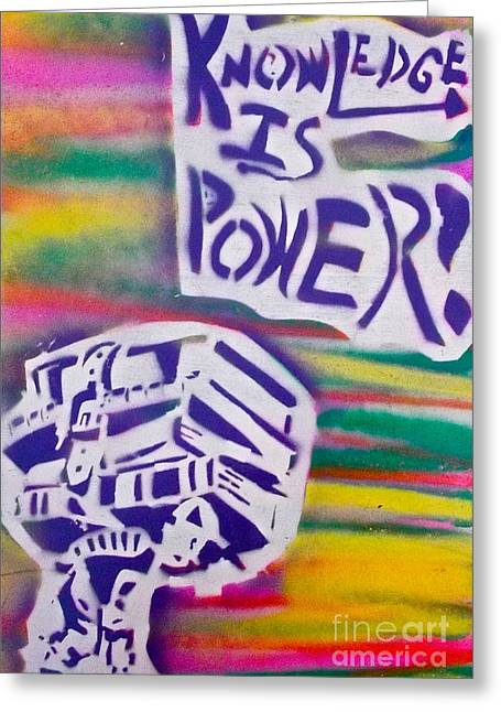 Conservative Greeting Cards - Knowledge Is Power 3 Greeting Card by Tony B Conscious
