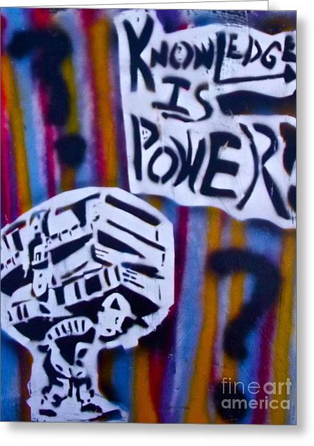 Conservative Greeting Cards - Knowledge is power 4 Greeting Card by Tony B Conscious