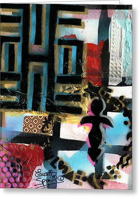 Coltrane Mixed Media Greeting Cards - Knowledge Is Power - 2014 Greeting Card by Everett Spruill