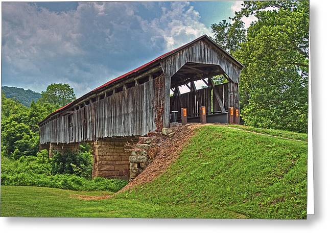 Jack R Perry Greeting Cards - Knowlton Covered Bridge Greeting Card by Jack R Perry