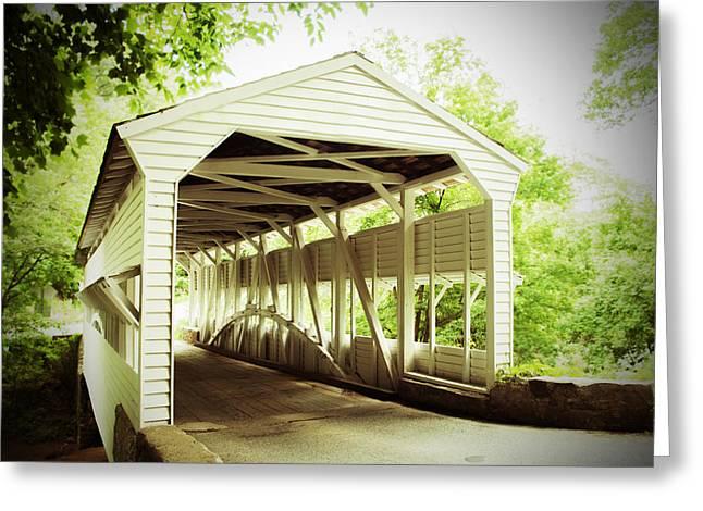 Old Roadway Greeting Cards - Knox Bridge Greeting Card by Michael Porchik