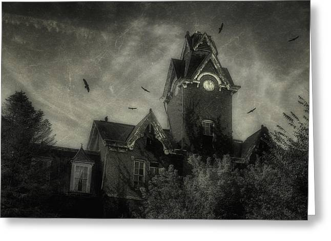 Asylum Greeting Cards - Knox County Poorhouse Greeting Card by Tom Mc Nemar