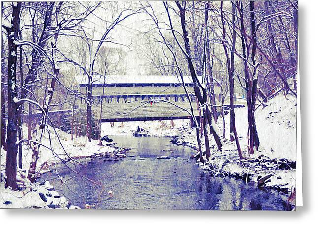 Knox Covered Bridge - Valley Forge Greeting Cards - Knox Covered Bridge at Valley Forge Pa Greeting Card by Bill Cannon