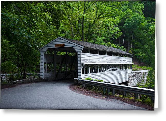 Knox Covered Bridge - Valley Forge Greeting Cards - Knox Covered Bridge in Valley Forge Greeting Card by Bill Cannon