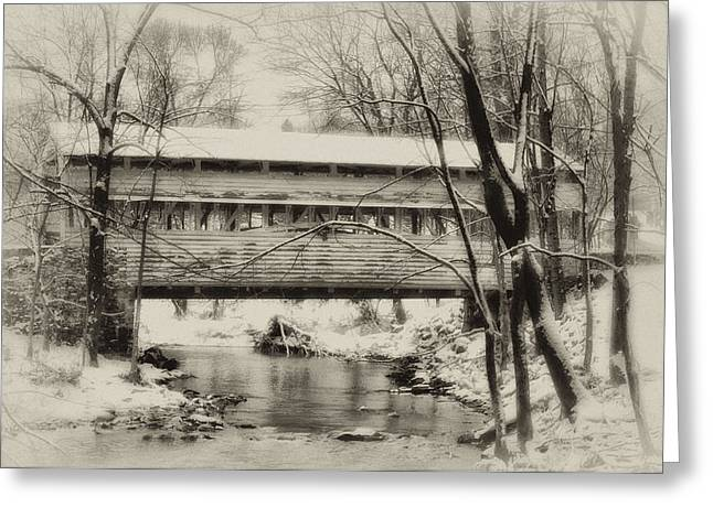 Stream Digital Greeting Cards - Knox Valley Forge Covered Bridge Greeting Card by Bill Cannon
