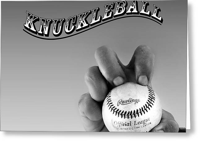 American Pastime Greeting Cards - Knuckleball Greeting Card by Bill  Wakeley
