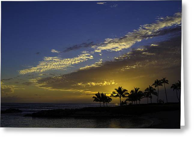 Ko Olina Lagoon Greeting Cards - Ko Olina Sunset Greeting Card by Rod Sterling