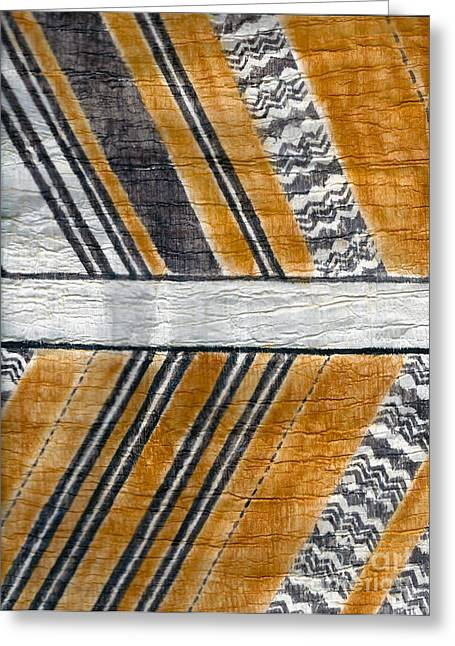 Thread Tapestries - Textiles Greeting Cards - Koa Malo Greeting Card by Dalani Tanahy
