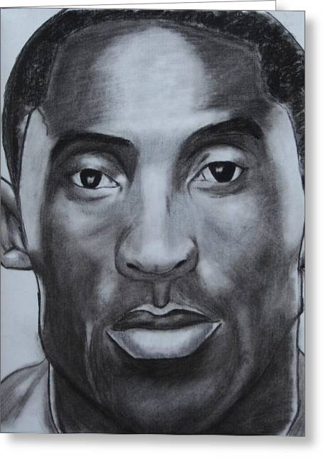 Aaron Balderas Greeting Cards - Kobe Bryant Greeting Card by Aaron Balderas