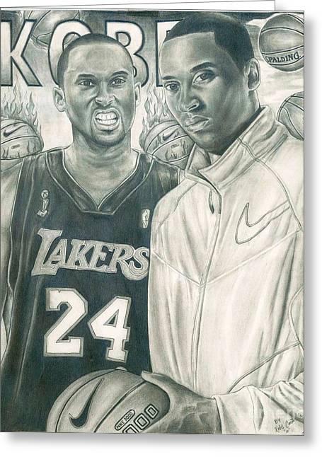 Kobe Bryant Drawings Greeting Cards - Kobe Bryant Greeting Card by Kobe Carter