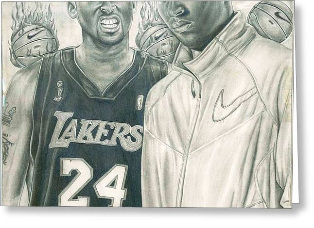 Kobe Bryant Greeting Card by Kobe Carter