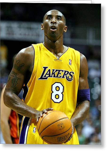 Los Angeles Lakers Greeting Cards - Kobe Bryant Greeting Card by Mountain Dreams