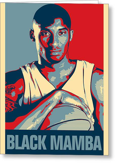 Kobe Bryant Wall Art Greeting Cards - Kobe Bryant Greeting Card by Taylan Soyturk