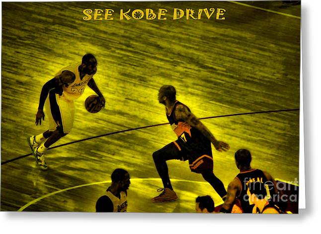 Staples Center Greeting Cards - Kobe Lakers Greeting Card by RJ Aguilar