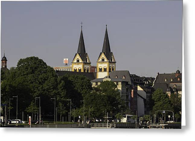 Head Of State Greeting Cards - Koblenz View from Deutsches Eck Greeting Card by Teresa Mucha