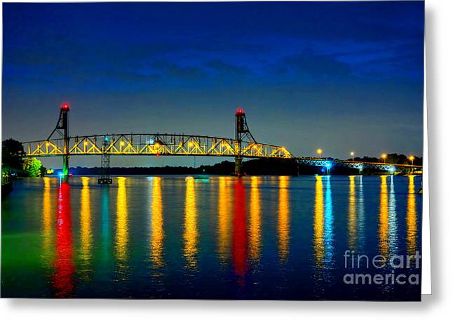 Roadway Greeting Cards - Kodachrome Bridge Greeting Card by Olivier Le Queinec