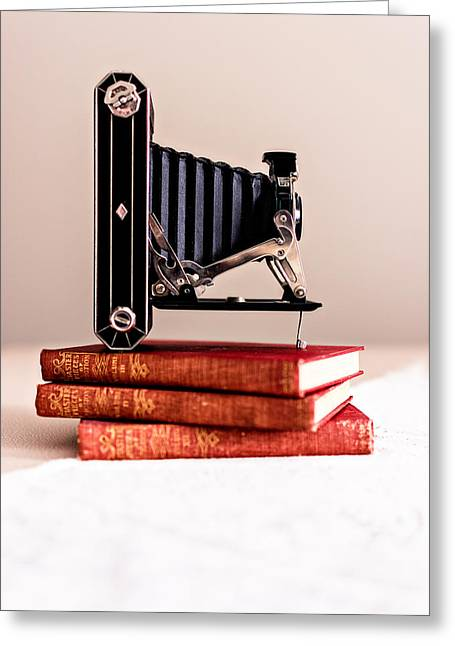 620 Greeting Cards - Kodak Art Deco 620 Camera Greeting Card by Jon Woodhams