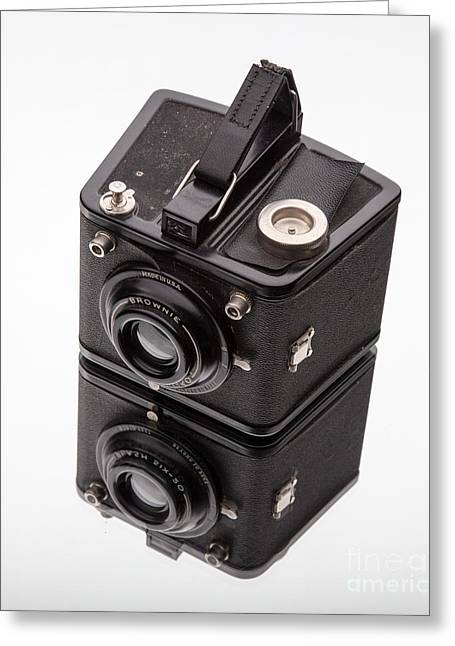 Kodak Greeting Cards - Kodak Brownie Film Camera Mirror Image Greeting Card by Edward Fielding