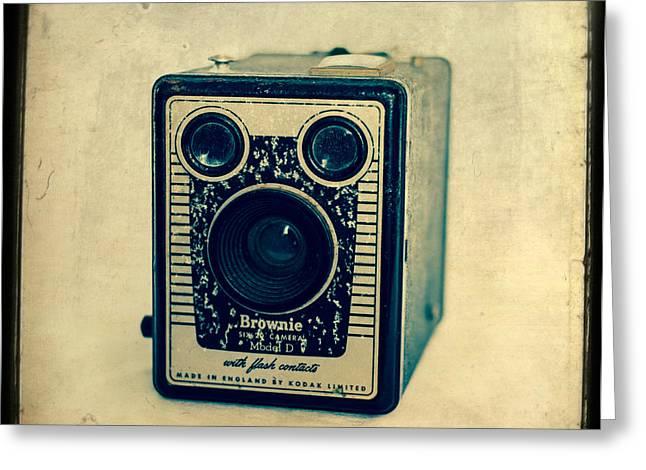 Kodak Brownie Greeting Card by Sonja Quintero