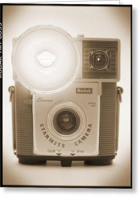 Flash Greeting Cards - Kodak Brownie Starmite Camera Greeting Card by Mike McGlothlen