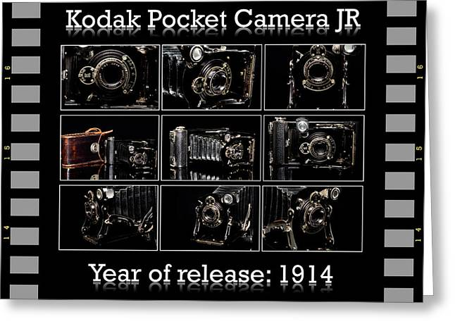 Manual Greeting Cards - Kodak pocket camera JR Greeting Card by Toppart Sweden