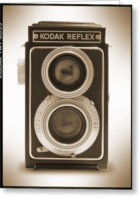 Classic Digital Greeting Cards - Kodak Reflex Camera Greeting Card by Mike McGlothlen