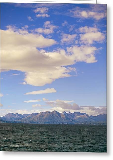 Kodiak Island Greeting Cards - Kodiak Island As Seen From Alaska Greeting Card by Kevin Smith