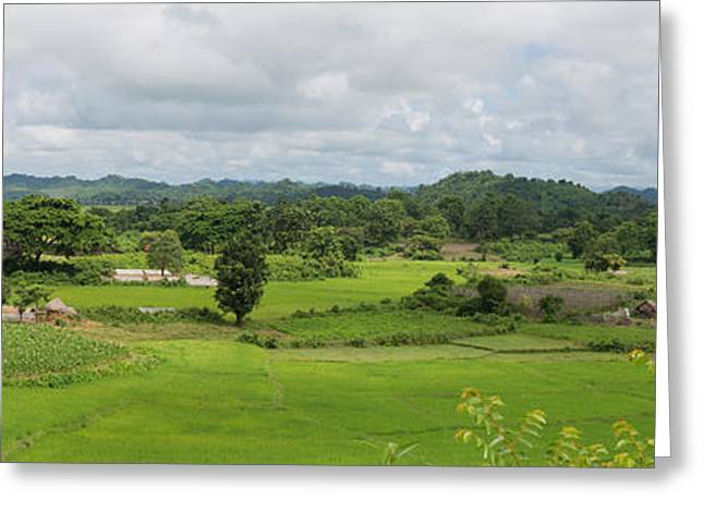 Myanmar Greeting Cards - Koe-thaung Temple Built By King Min Greeting Card by Panoramic Images
