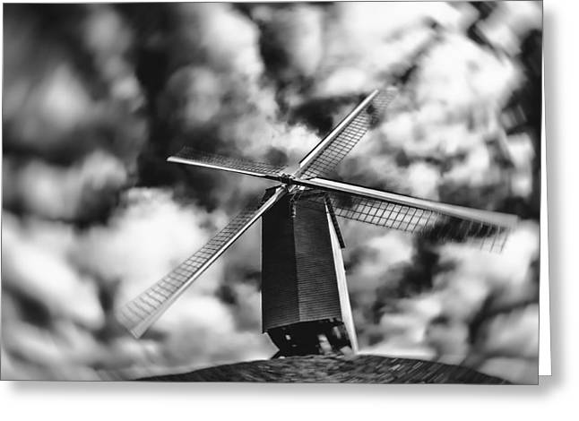 Bruges Greeting Cards - Koelewei Mill Greeting Card by Wim Lanclus