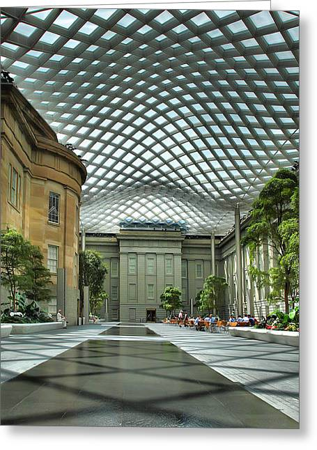 Architecture Metal Prints Greeting Cards - Kogod Courtyard II Greeting Card by Steven Ainsworth