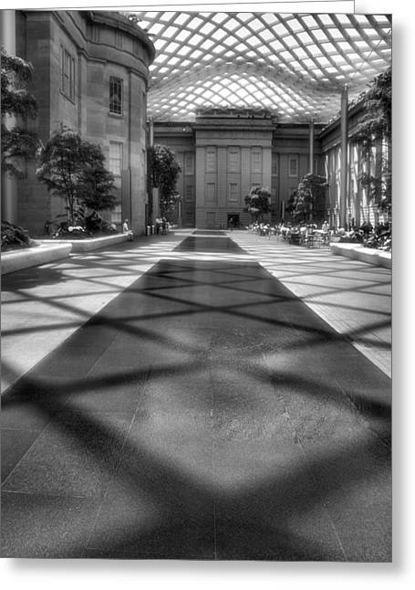 D.w Greeting Cards - Kogod Courtyard III Greeting Card by Steven Ainsworth
