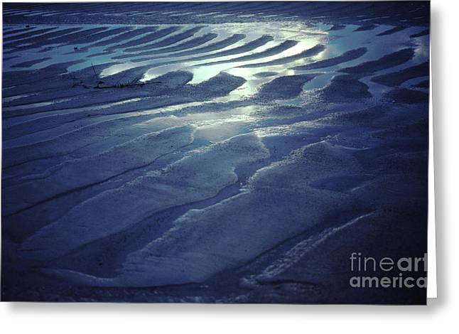 Sand Pattern Greeting Cards - Koh Phang-an Sand and Sea Serenity - Thailand Greeting Card by Anna Lisa Yoder