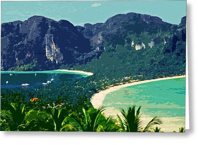 Asien Photographs Greeting Cards - Koh Phi Phi ... Greeting Card by Juergen Weiss