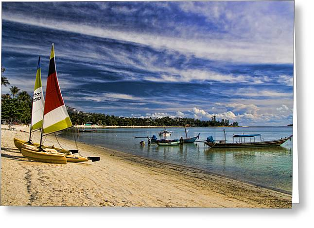 Pacific Islands Greeting Cards - Koh Samui Beach Greeting Card by David Smith