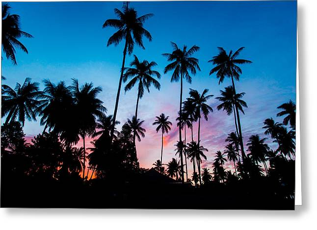 Mike Lee Greeting Cards - Koh Samui Sunrise Greeting Card by Mike Lee