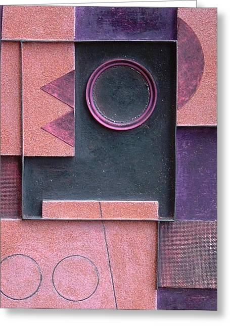 Geometric Sculptures Greeting Cards - Koha. 2002 Greeting Card by Peter-hugo Mcclure