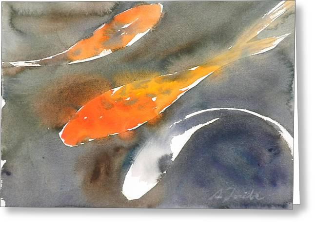 Sumiyo Toribe Greeting Cards - Koi Fish No.1 Greeting Card by Sumiyo Toribe