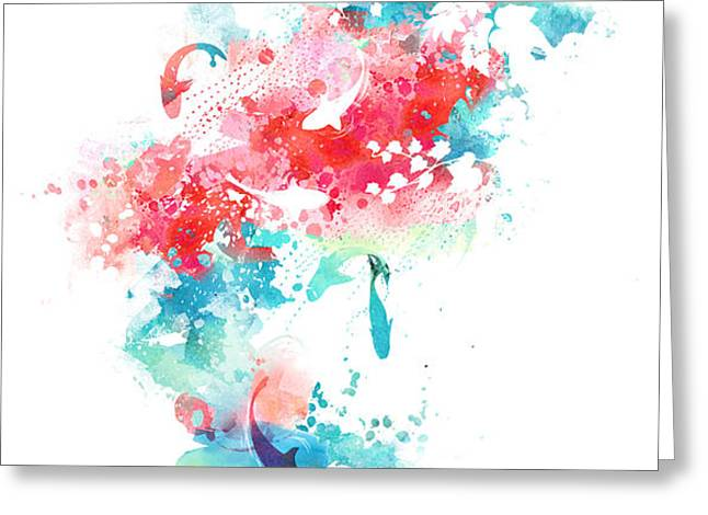 koi life in water color Greeting Card by Budi Satria Kwan