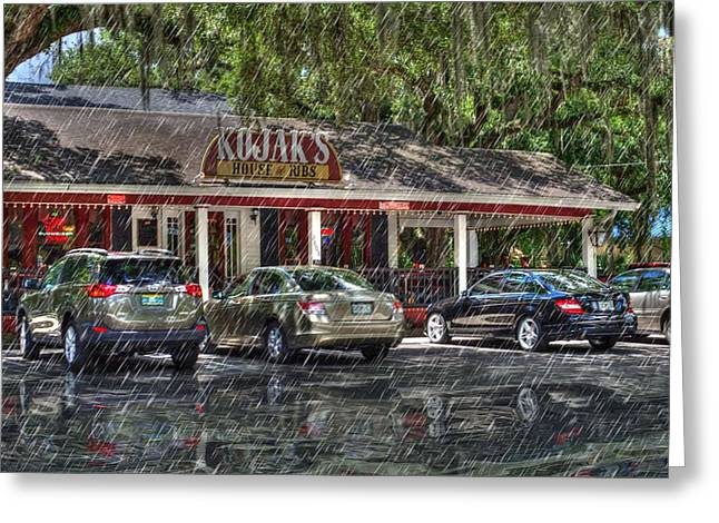 Local Food Greeting Cards - KOJAKS House of Ribs Greeting Card by L Wright
