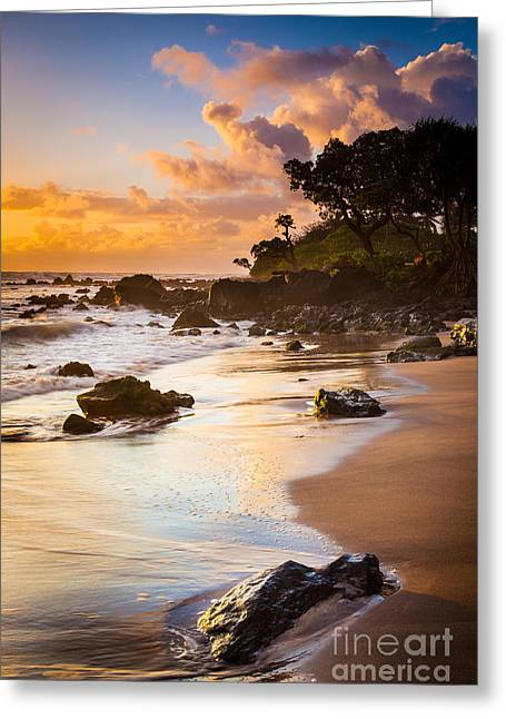 Harmonious Greeting Cards - Koki Beach Sunrise Greeting Card by Inge Johnsson
