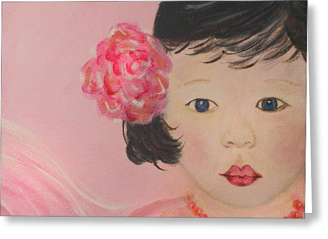 The Art With A Heart Greeting Cards - Kokoa Little Angel for Love Of the Heart Greeting Card by The Art With A Heart By Charlotte Phillips