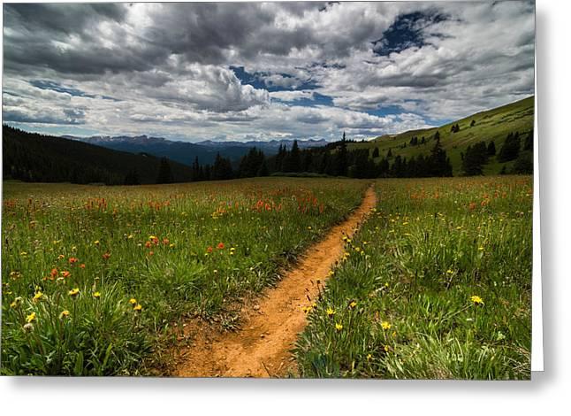 Stream Greeting Cards - Kokomo Pass Hike Greeting Card by Michael J Bauer
