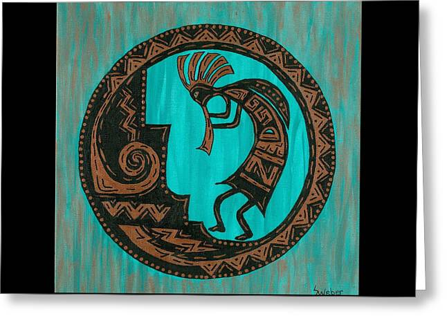 Susie Weber Greeting Cards - Kokopelli Greeting Card by Susie WEBER