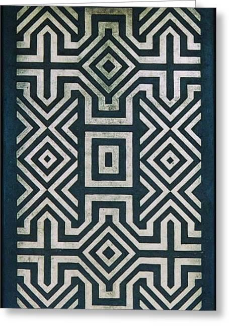 Kiwi Art Reliefs Greeting Cards - Kolam. Kiwi Carving. 1999 Greeting Card by Peter-hugo Mcclure