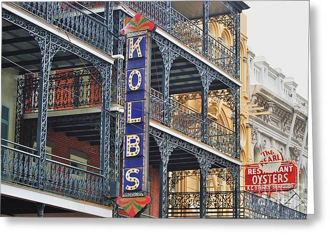 St Charles Avenue Greeting Cards - Kolbs New Orleans Greeting Card by Marcus Dagan